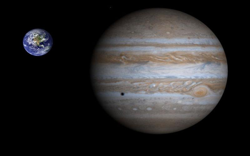 Diferencias entre Júpiter y la Tierra
